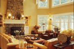 Arts and Crafts House Plan Living Room Photo 01 - 072S-0001 | House Plans and More