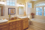 Luxury House Plan Master Bathroom Photo 01 - 072S-0001 | House Plans and More