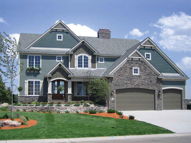 Arts and Crafts House Plan Front of Home 072S-0003