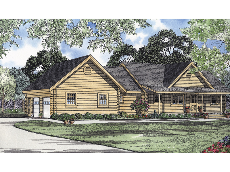 Log Hollow Rustic Ranch Home Plan 073d 0003 House Plans