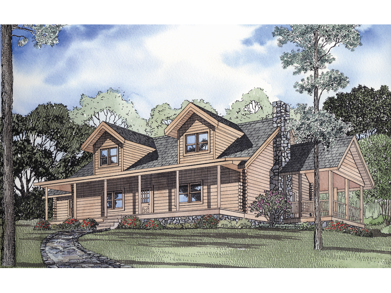 Cobb Creek Rustic Log Home Plan 073D 0004 House Plans and More