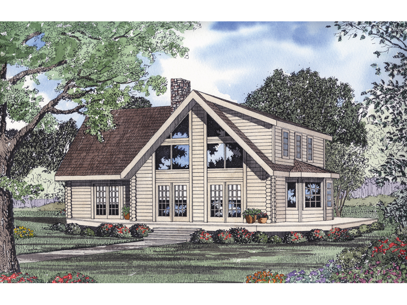 Log Home Design Great For Family