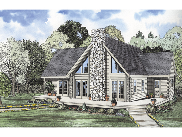 Yukon bay rustic cabin home plan 073d 0012 house plans Granite a frame plans