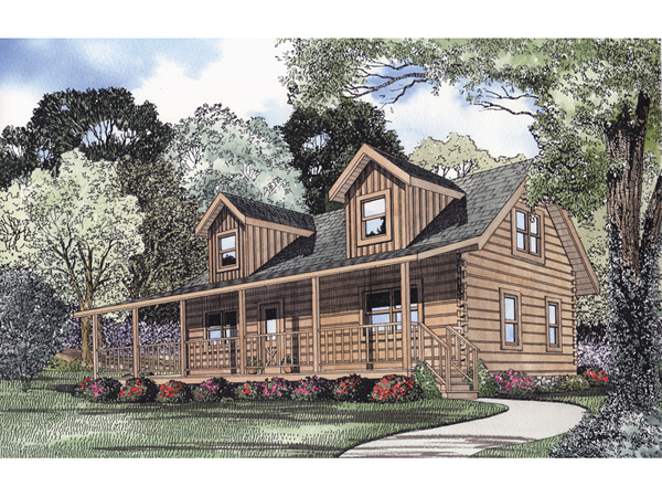 Crooked Creek Log Cabin Home Plan 073d 0013 House Plans