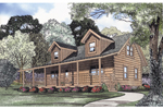 Rustic Log Home With Southern Style Dormers