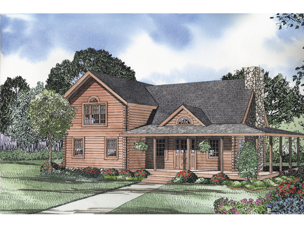 Nelson lagoon log home plan 073d 0015 house plans and more for Nelson home designs