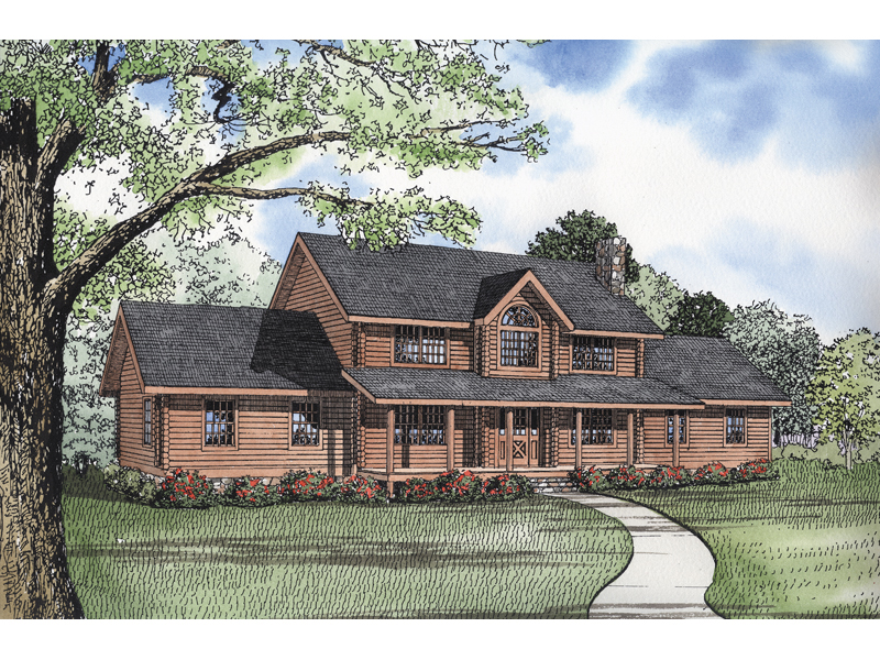 Glacier bay rustic log home plan 073d 0018 house plans for 2 story log cabin house plans