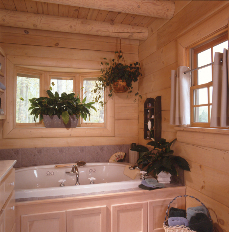 Log Cabin House Plan Bathroom Photo 01 073D-0021