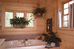 Log Cabin House Plan Bathroom Photo 01 - 073D-0021 | House Plans and More