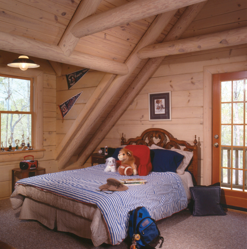 Log House Plan Bedroom Photo 01 - 073D-0021 | House Plans and More
