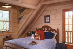 Log Cabin House Plan Bedroom Photo 01 - 073D-0021 | House Plans and More