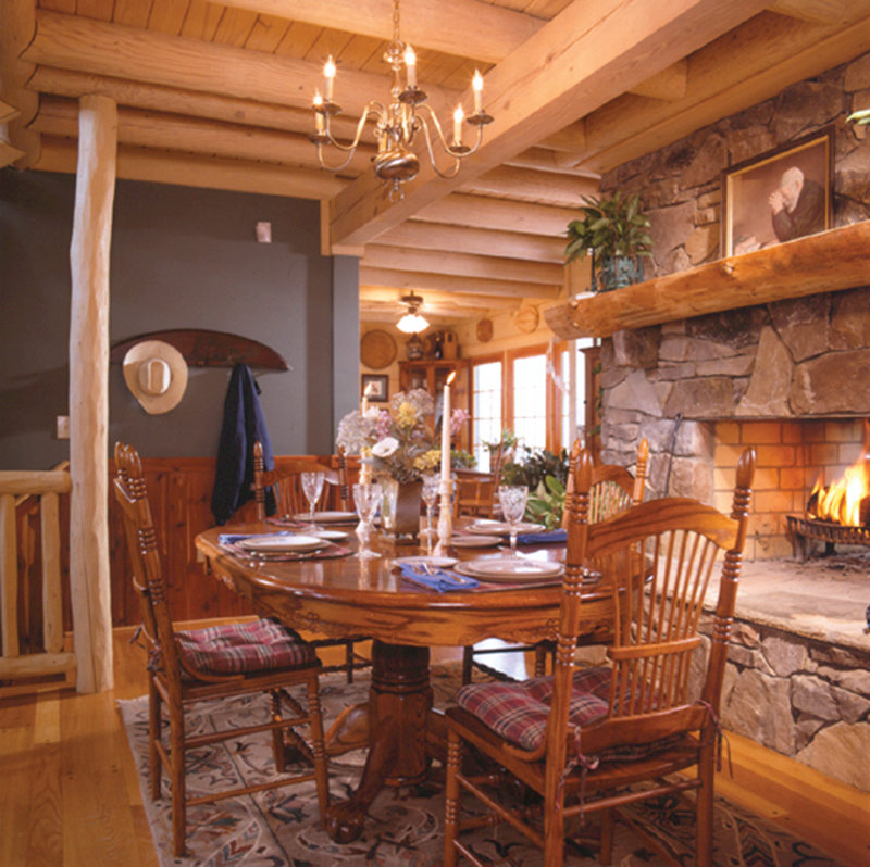 Log Cabin House Plan Dining Room Photo 01 073D-0021