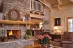 Rustic Home Plan Fireplace Photo 01 - 073D-0021 | House Plans and More