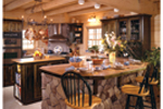 Log Cabin House Plan Kitchen Photo 01 - 073D-0021 | House Plans and More