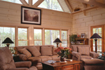 Log Cabin House Plan Living Room Photo 01 - 073D-0021 | House Plans and More