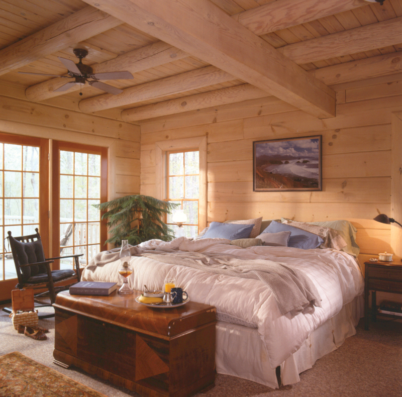 Log House Plan Master Bedroom Photo 01 073D-0021