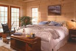 Log House Plan Master Bedroom Photo 01 - 073D-0021 | House Plans and More