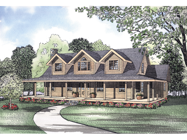Pioneer Park Rustic Log Home Plan 073D 0028 House Plans