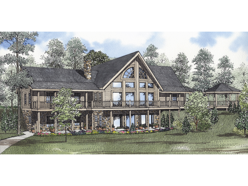 Salmon bay luxury log home plan 073d 0030 house plans Luxury log home plans