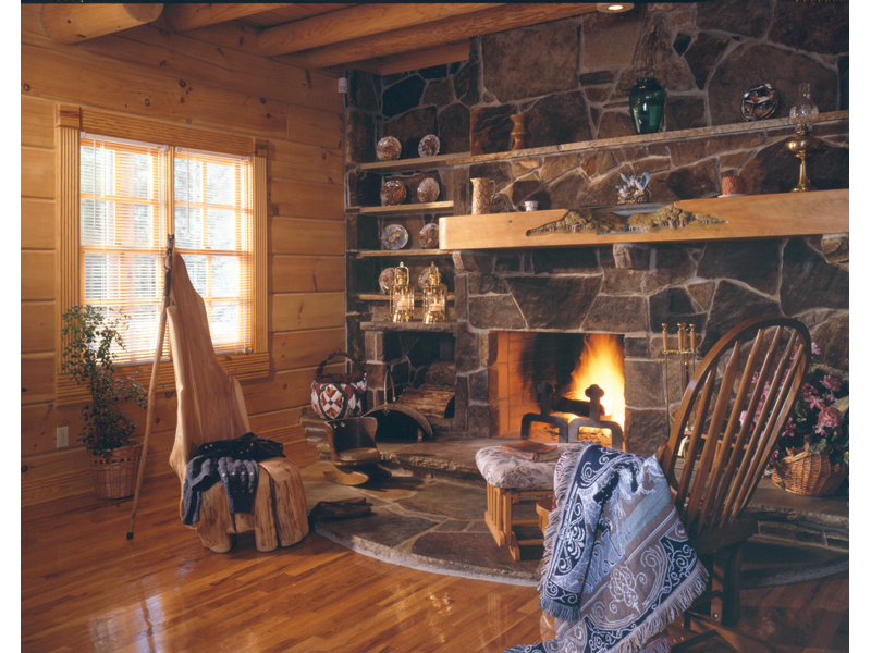 Cabin and Cottage Plan Fireplace Photo 01 073D-0032