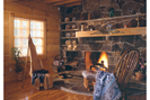 Cabin and Cottage Plan Fireplace Photo 01 - 073D-0032 | House Plans and More