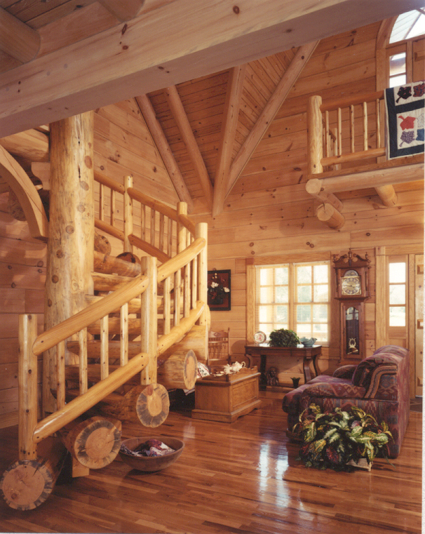 Log House Plan Great Room Photo 01 073D-0032