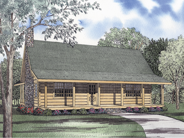 Eagle ridge log cabin home plan 073d 0034 house plans for Eagles ridge log cabin