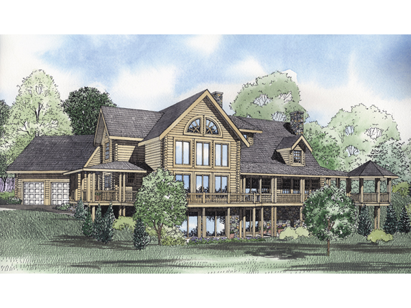 Montana bay luxury log home plan 073d 0035 house plans Luxury log home plans