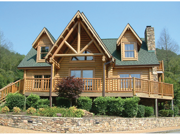 Campbell creek log home plan 073d 0037 house plans and more for Log home plans with cost to build