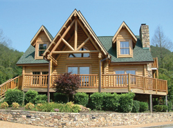 log cabin home plans - cabin plans | house plans and more