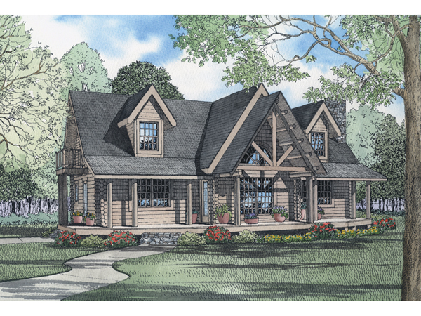Alpinecrest Mountain Log Home Plan 073d 0039 House Plans