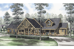 Sprawling Log Home With Angled Beams