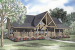Relaxing Log Home Made For Porch Lovers