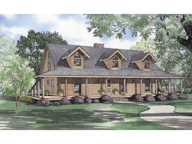 El dorado place rustic home plan 073d 0042 house plans for Rustic house plans with wrap around porch