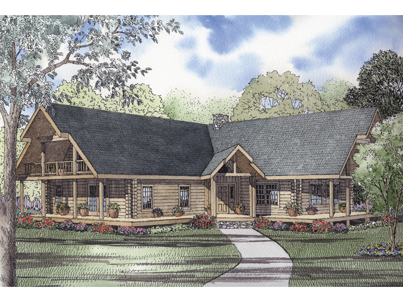 Saddlehill Rustic Mountain Home Plan 073d 0045 House