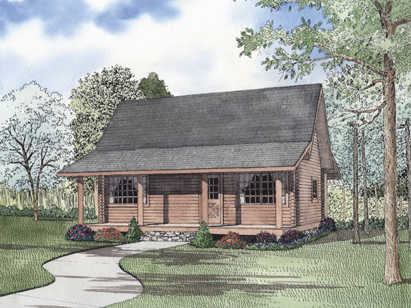 Alyssandra country log home plan 073d 0047 house plans for Country log home plans