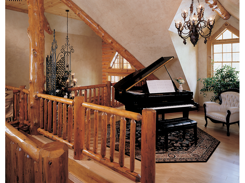 Log House Plan Music Room Photo 01 - 073D-0055 | House Plans and More