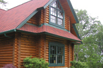 Log Cabin House Plan Window Detail Photo - 073D-0055 | House Plans and More