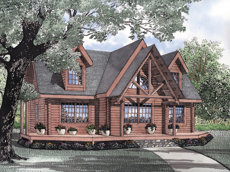 Snow lake rustic log cabin home plan 073d 0056 house for Unique log home floor plans