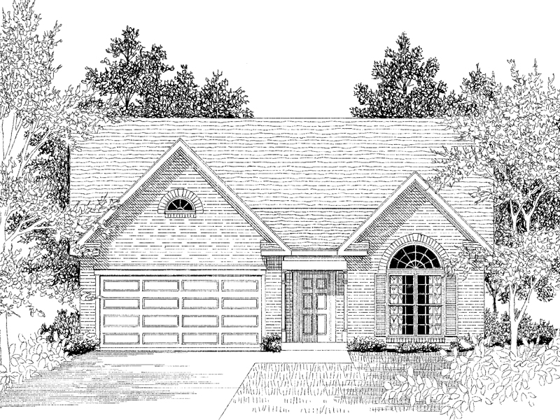 Charming Home Plan For Narrow Lot