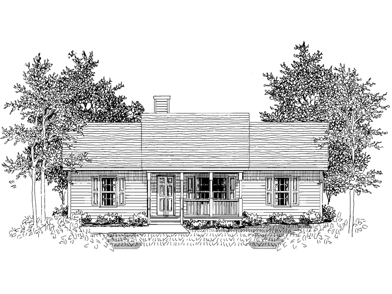 Cozy Country Design With Inviting Front Porch