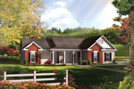 Southern Styled Home With Gabled Roof Design