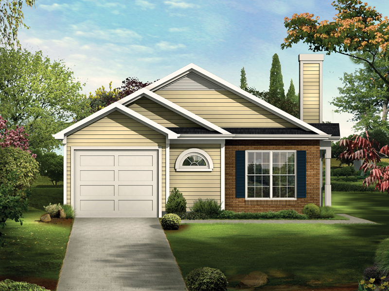 Narrow lot house plans with front garage escortsea for Narrow house plans with attached garage