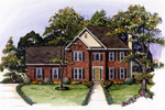 Traditional House Has Two Stories And Great Curb Appeal