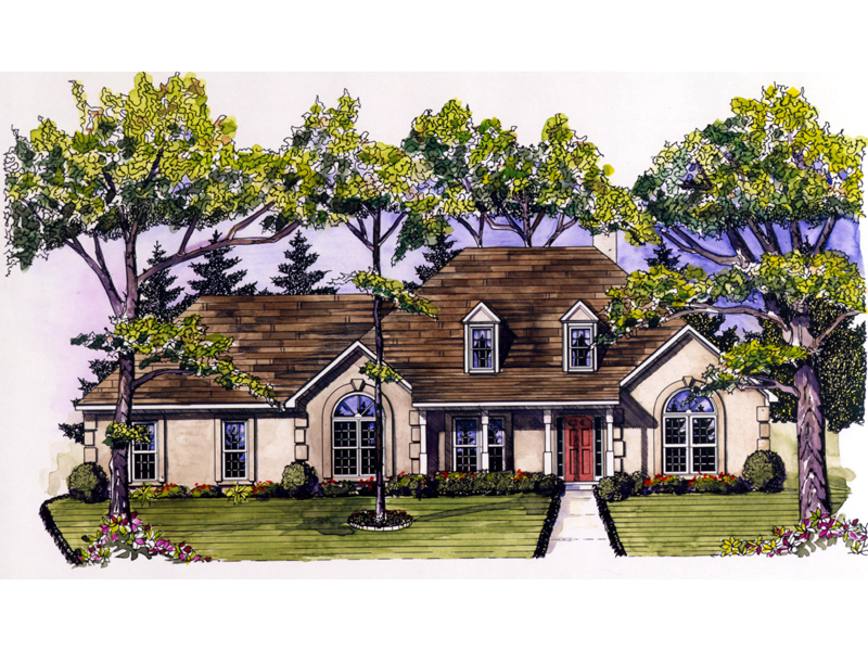 Southern Style Stucco House Has Great Curb Appeal