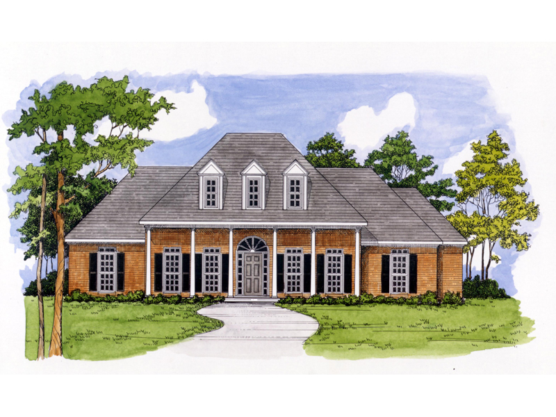 Stately Columns Create A Southern Appeal