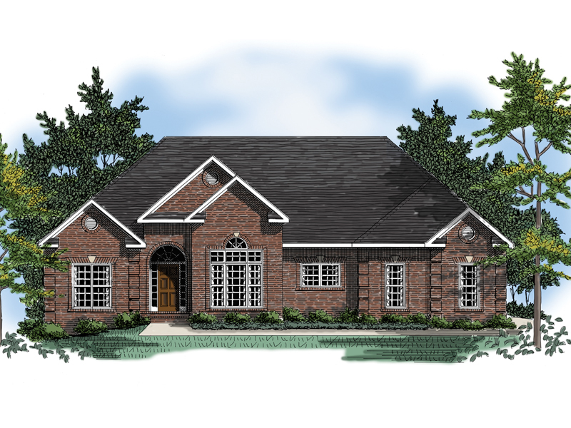 Traditional All Brick Ranch Home
