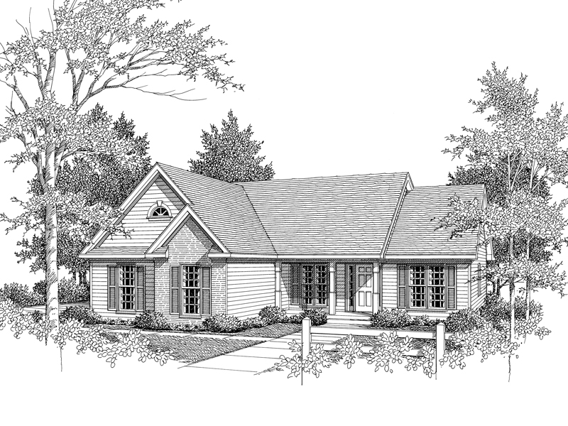 Traditional Ranch Home Has Loads Of Curb Appeal