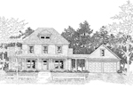 Traditional House Plan Front Photo 01 - 076D-0097 | House Plans and More