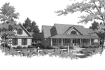 Ranch House Plan Front of Home - 076D-0098 | House Plans and More
